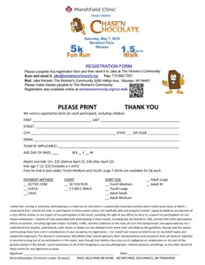 Registration Form thumbnail Chase'n Chocolate 2016