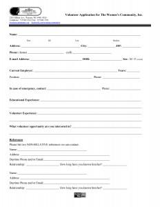 TWC Volunteer Application1