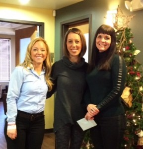 Community Soul Yoga donation with Keri Anne Steger and Owner Kirsten Holmson