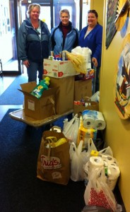 Employees of Aspirus Respiratory Therapy Dept. collected Wish List items for TWC clients