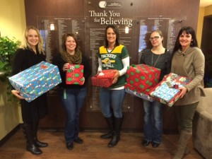 Inner City Bank staff delivering Giving Tree gifts