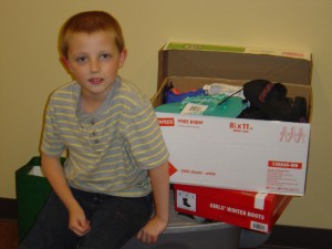 Instead of presents for his birthday, Owen Fritz asked for shoes he could give to The Women's Community