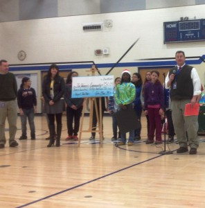 John Muir Middle School donated over $750 from their Star Wars fundraiser.