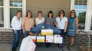 Liberty Mutual staff with Wish List donations