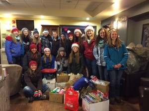 Marathon High School Student Council donating Wish List items