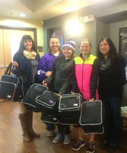 Mosinee Middle School students back pack donation