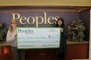 People's State Bank Christmas donation