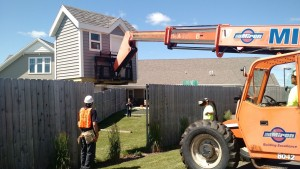 Playhouse Miron volunteered the crane and two workers.