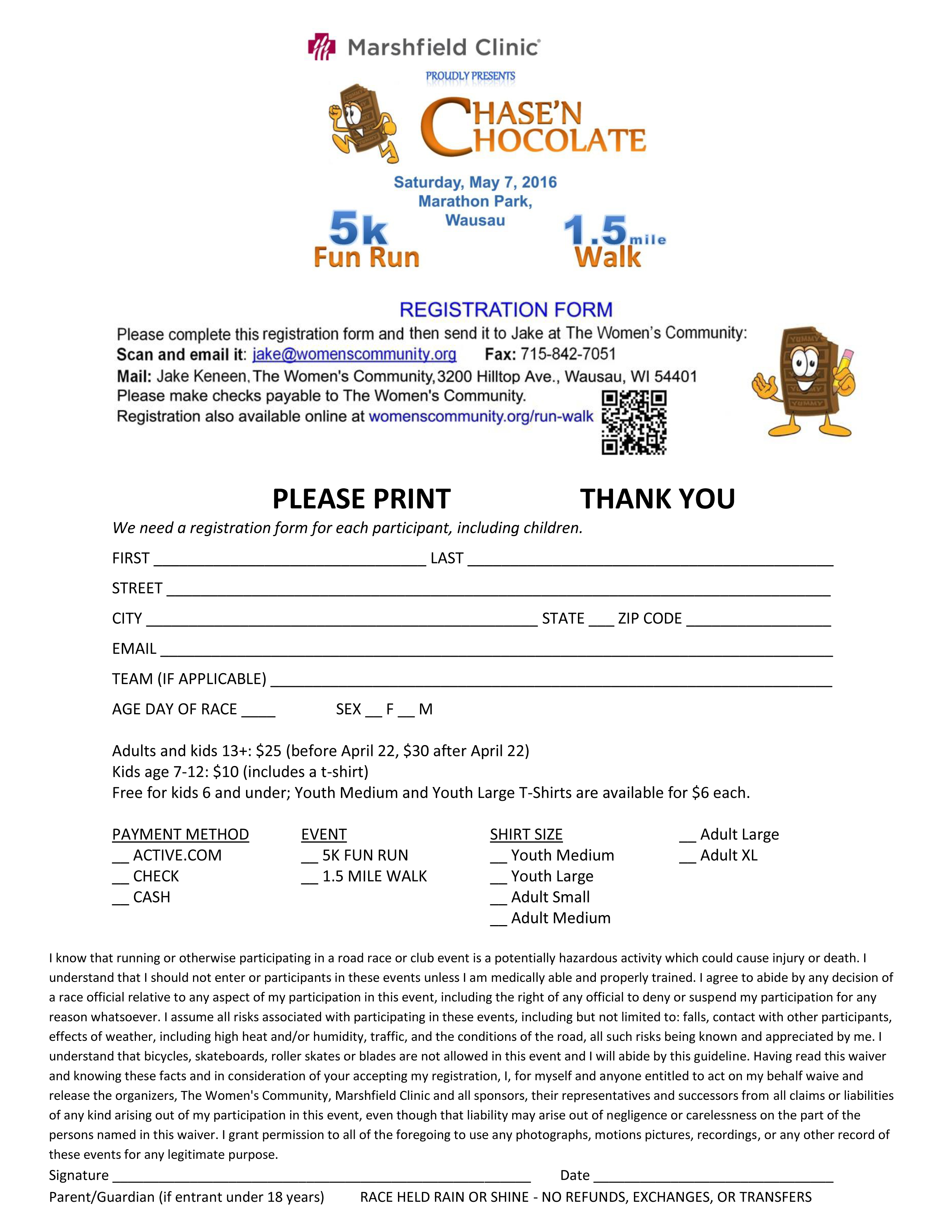 Registration Form Chase'n Chocolate 2016 copy