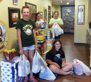 Girl Scout Troop 7331 shopping with extra cookie sales money