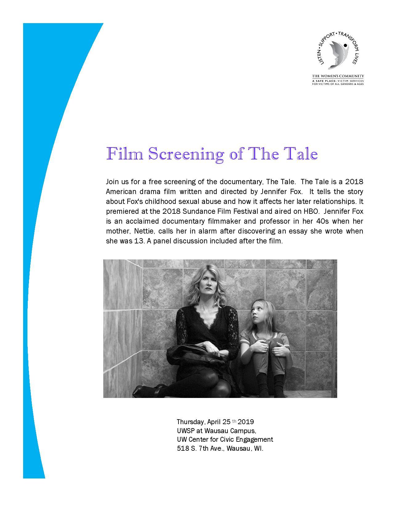 Film Screening of The Tale